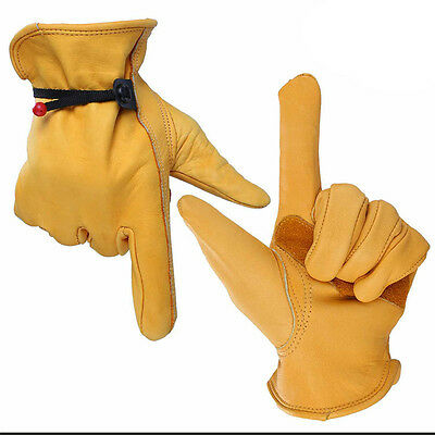 High Quality Leather Palm Heavy Duty Work Gloves For  Gardening  Home Works