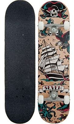 """Seven Complete Skateboard Tattoo Flash Natural 7.8"""" FREE POST"""