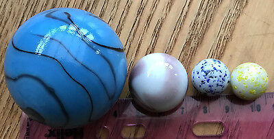 Collectable Colored Glass Marbles -Stunning Details - various sizes