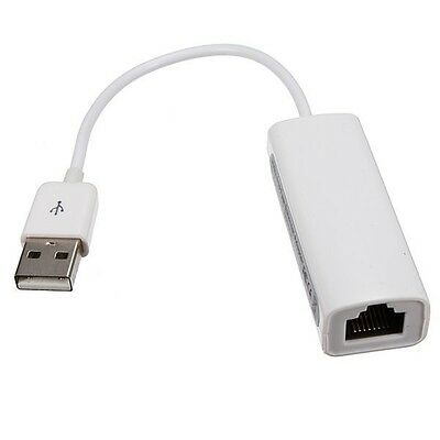 USB 2.0 to RJ45 LAN Ethernet Network Adapter For Apple Mac MacBook Air CT E V5H0