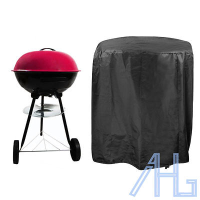 Large Waterproof Outdoor Garden Kettle Barbecue/BBQ Chimney Grill Cover Black