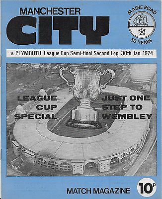 Manchester City V Plymouth League Cup Semi 30-1-0974
