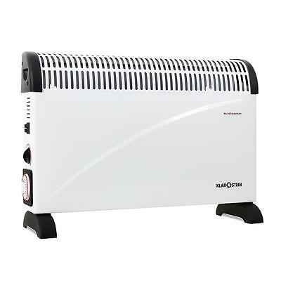 Electric Convector Heater 24 Hr Timer 2000W Portable Indoor Convection Heating