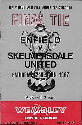 Amateur Cup Final At Wembley 1967 Enfield V Skelmersdale Unuted