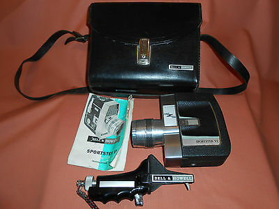 Bell & Howell Sportster V1 Zoom Video film Camera + case + Instruction book