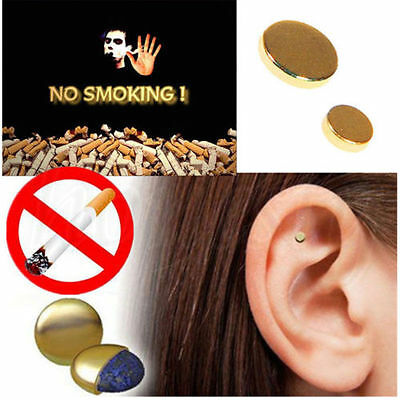 2PCS Quit Stop Smoking Ear Magnet Cigarettes Magnetic ear Acupressure Zero Smoke