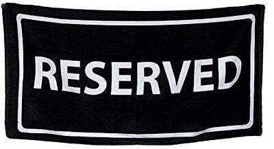 Black And White Reserved Cotton Velour Beach Towel 30 X 60 In. Summer Time
