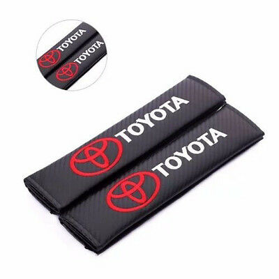 2pcs Carbon Fiber Seat Belt Cover Shoulder Pad TRD Toyota Corolla Yaris Camry