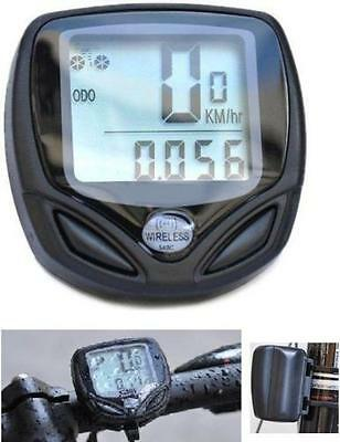 Wireless Bike Bicycle Cycling Distance Speed Meter LCD Backlight Water-resistant