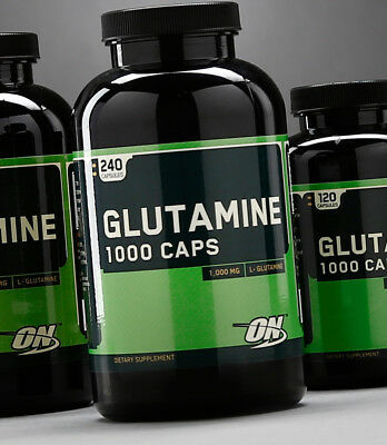 Optimum Nutrition BCAA - GLUTAMINE 1000 - 400 / 60 Capsules protein t shirt whey