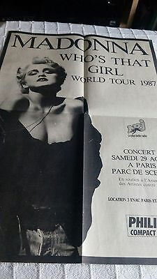 MADONNA original big advert NO POSTCARD very rare 1987 wtg tour NO DVD