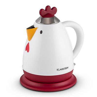 Klarstein Chicken Rooster Electric Kettle Kitchen Tea Water Fast Boiler