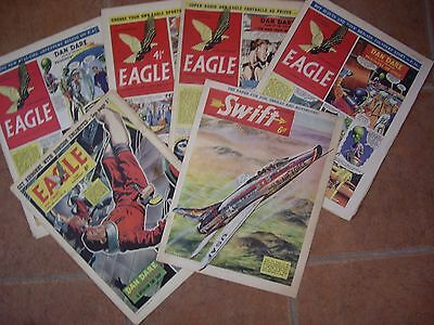 FOUR EAGLE COMICS (50s) ONE (60s) & SWIFT (60s