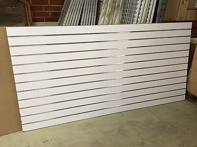 White slatwall sheets with aluminium inserts 2400mm x 1200mm x 18mm NEW STOCK