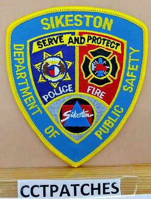 Sikeston, Missouri Department Of Public Safety (Fire/police) Shoulder Patch Mo