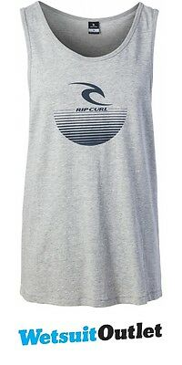2017 Rip Curl The Corporate Tank Top CEMENT MARLE CTEWM4