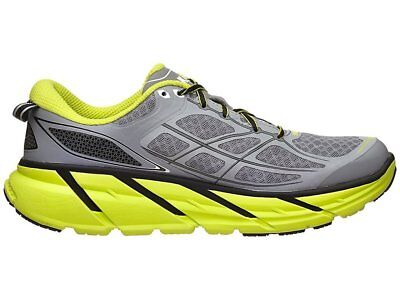 Hoka One One Clifton 2 Men's Running Shoes - Grey/Acid
