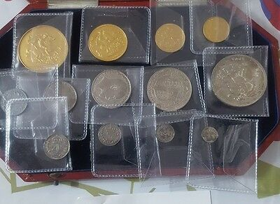 1902 Edward Vii Gold Proof Thirteen Coin Set. Exceptional Quality