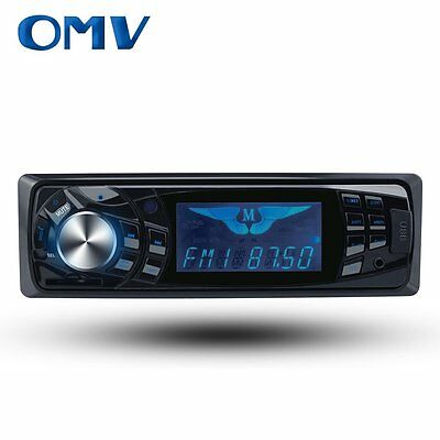 Single Din Car Audio MP3 Stereo Radio Player, Front Aux Input Car Audio Black FM