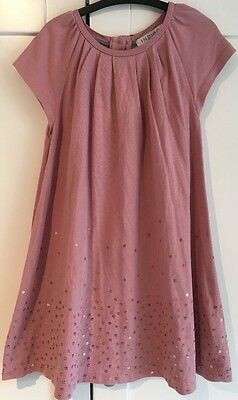 Girls M&S 'Indigo' Pink Dress with Sequins, age 4-5 years