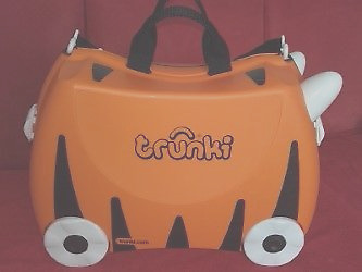Trunki Tipu Tiger Ride On Pull Along Case/hand Luggage