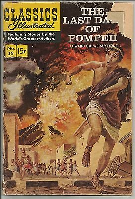 Classics Illustrated 35:The Last Days Of Pompeii(HRN 161)...fair...new Kirby art