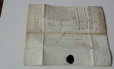Postal History Colchester Penny Post Entire 1828