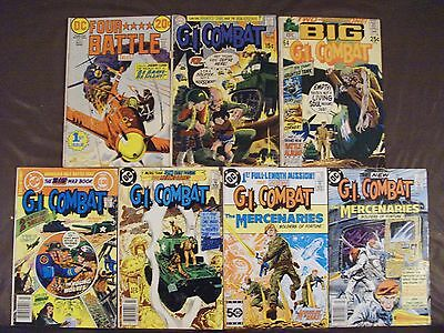 DC war lot...24 issues...Sgt.Rock,GI Combat,Haunted Tank,Unknown Soldier,Losers+