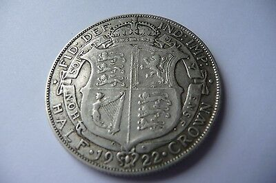 Very Nice 1922 George V  Half Crown
