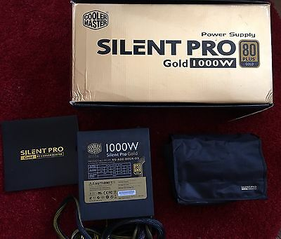 Cooler Master PSU Silent Pro 1000W NEW - Suitable For GAMING/PC/SERVER BARGAIN££