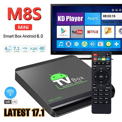2017 4K PRO MS8-MINI Quad Core  Smart Android TV BOX 17.1 HDMI WIFI Media Player
