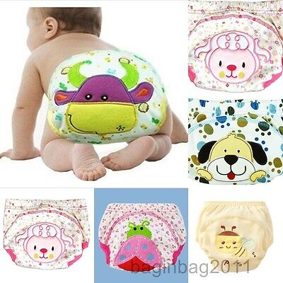 5Pcs Soft Baby Boy Girl Infant Kids Toilet Potty Training Pants Underwear Nappy