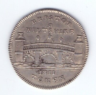 Somersetshire Bristol Silver Sixpence Token 1811  D.59