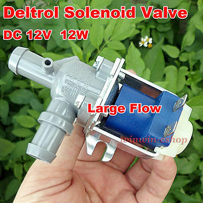 DELTROL 12VDC 12W Electric Solenoid Valve N/O Normally Open For Air Water Valve