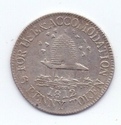 Not Local Silver Sixpence Token 1812  D.12