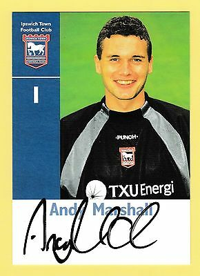 Andy Marshall Ipswich Town Football Club Signed Photocard
