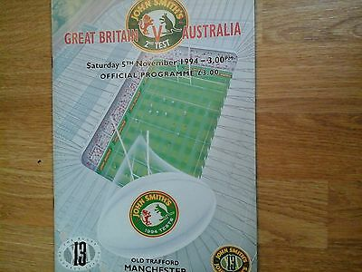 GREAT BRITAIN v AUSTRALIA, OLD TRAFFORD, 05/11/94