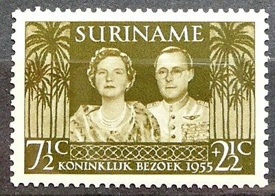 Surinam Stamp - Queen Juliana and Prince Bernhard-Royal visit to Surinam - MLH.