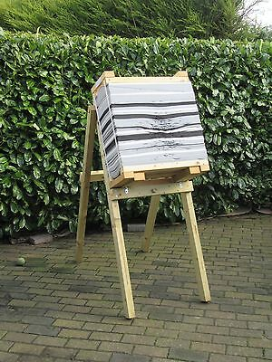 very heavy duty target stand with  foam layered target,target stand used twice !