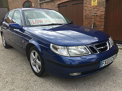 Saab 9-5 2.0t 2003MY Arc, 58,000 miles, 15 service stamps, immaculate