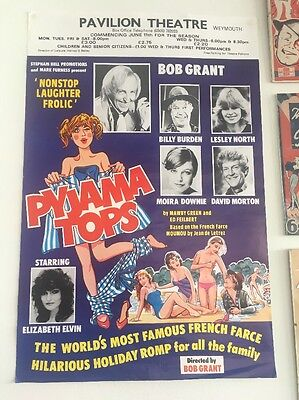 Original Film Theatre Poster Pyjama Tops Bob Grant Vintage Antique