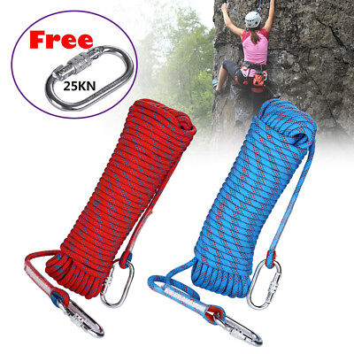 10-30M 10mm Static Rescue Rope Rock Climbing Rappelling Tree Arborist Cord Sling