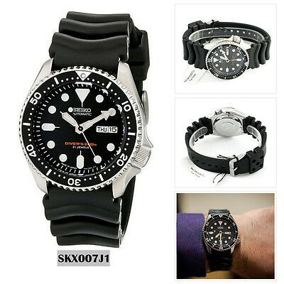 Seiko Analog Sport Watch Automatic Diver's Black Mens SKX007J1