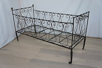 Vintage French Folding Child's Cot Bed Daybed