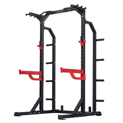 HD2 Half Rack with Chinup Bar and Spotter Bars