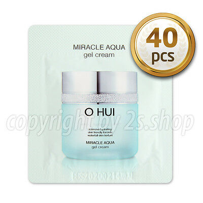 [O HUI] Miracle AQUA Gel Cream 1ml x 40pcs OHUI Hydrating Moisturizers