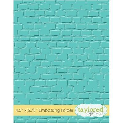Taylored Expressions Embossing Folder - Brick - TEEF18