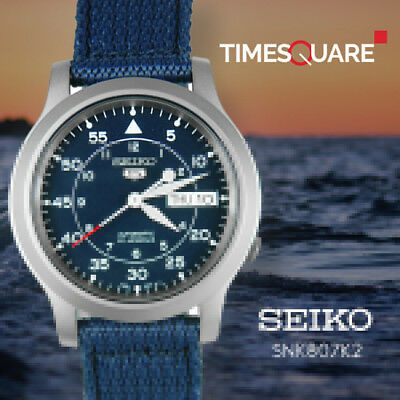 Seiko Analog Casual Watch 5 Automatic Blue Mens SNK807K2