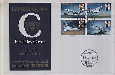 bahrain 1976 concorde first day cover
