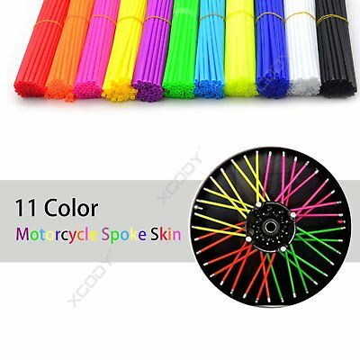 72PCS Spoke Skins Covers for Motocross Dirt Bike Wheel Rim Guard Protector Wraps